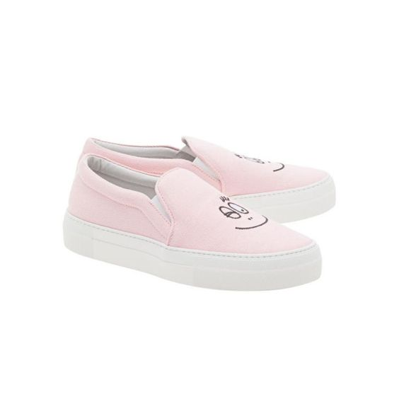 Barbapapa Rose Slipons.
