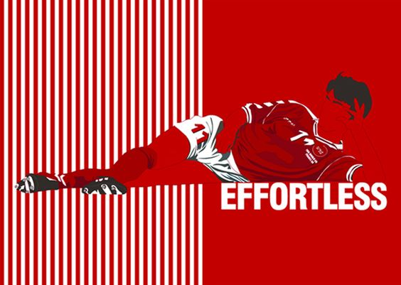 """Brian Laudrup (Denmark, 1987–1998, 82 caps, 21 goals). Artistic illustration by Miniboro """"Effortless""""."""