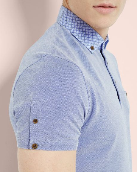Oxford polo shirt - Blue | Tops & T-shirts | Ted Baker UK