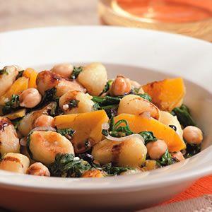 Chickpea, Spinach, and Squash Gnocchi