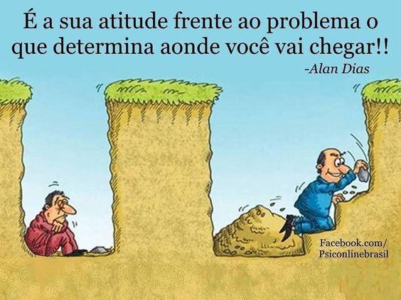 É a sua atitude frente ao problema o que determina…
