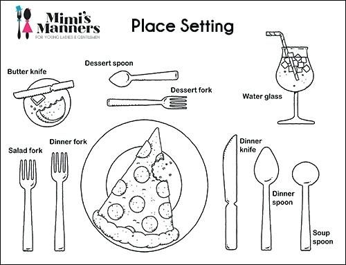 Manners Coloring Pages Products S Manners Free Table Manners