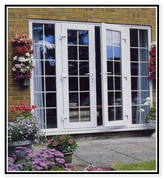 Outswing french door on brick house images exterior for Exterior double doors lowes
