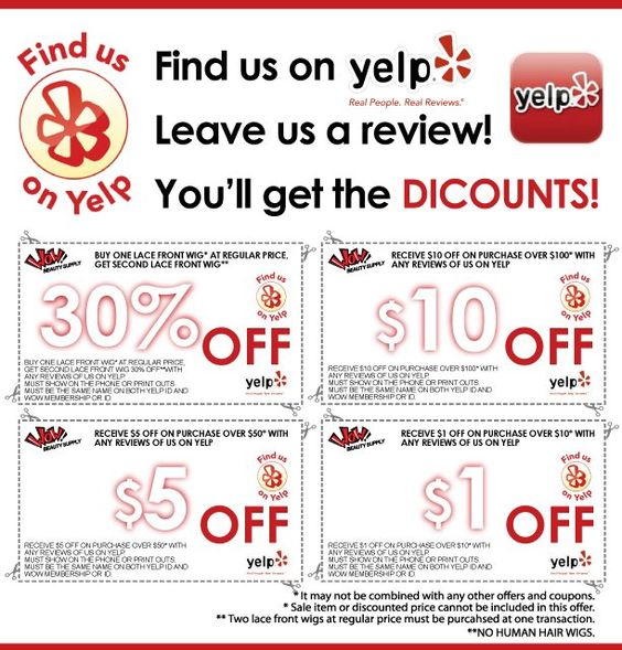 Yelp coupon code