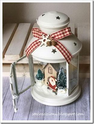 paesaggio natalizio su lanterna Ikea