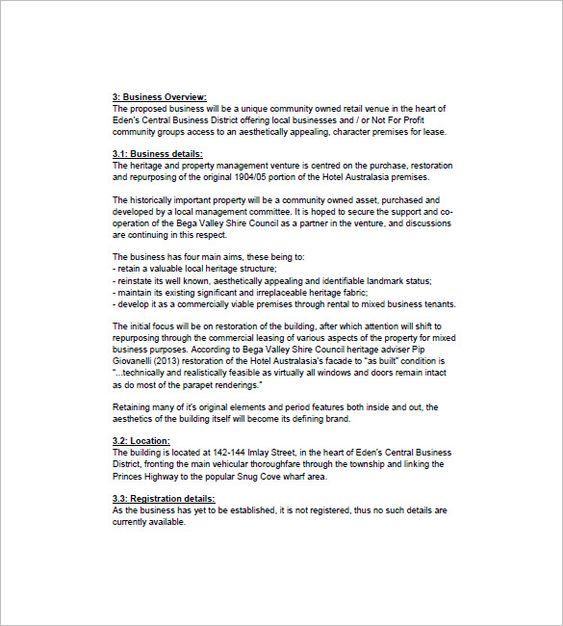 Hotel Business Plan Template u2013 8+ Free Sample, Example Format - hotel business plan template