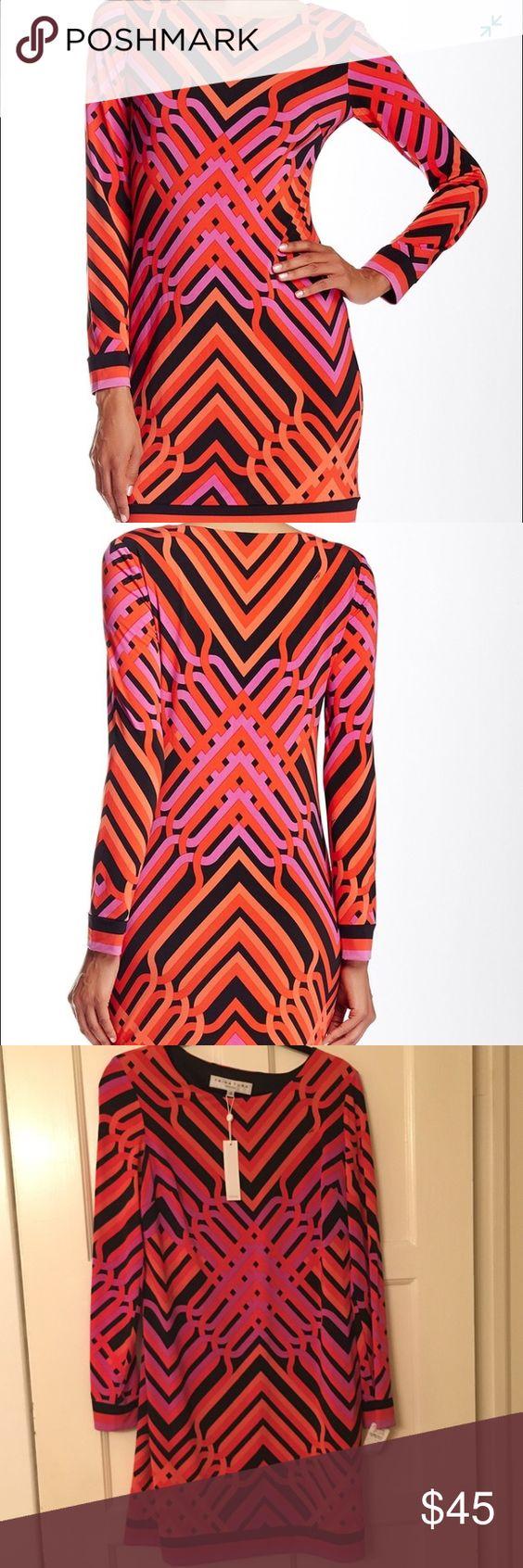 Selling this Trina Turk Long Sleeve Geo Matte Jersey Dress on Poshmark! My username is: jennyla2. #shopmycloset #poshmark #fashion #shopping #style #forsale #Trina Turk #Dresses & Skirts