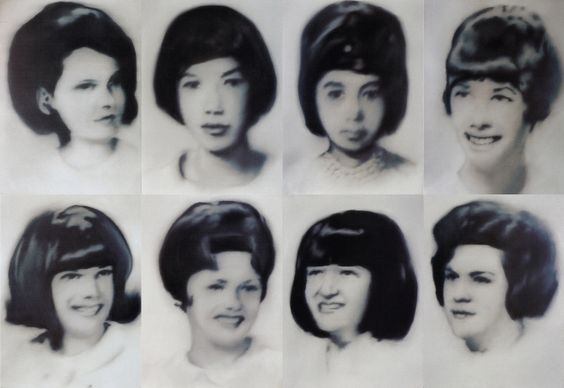 Gerhard Richter, Acht Lernschwestern (Eight Student Nurses) 1966, 8 parts, each panel: 95 cm x 70 cm, Oil on canvas