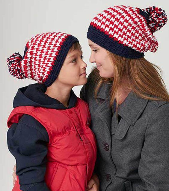 Free Crochet Pattern Houndstooth Hat : Pinterest The world s catalog of ideas