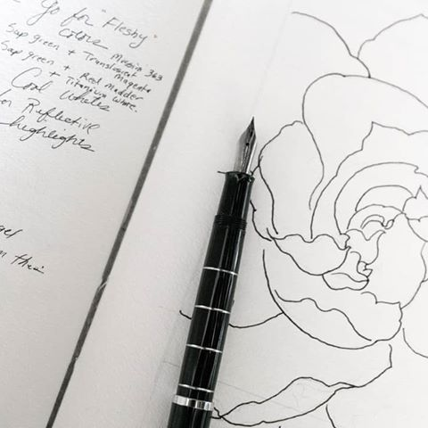 Sketch For The Day On Vellum If I Like It I Ll Transfer The Drawing To My Canvas We Ll See Sketch Pencil Paper Draw Flower Painting My Canvas Drawings