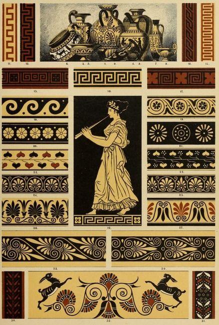 """From the public domain book, """"Der Ornamentenschatz; ein Musterbuch stilvoller Ornamente aus allen Kunstepochen (1887)."""" Download, browse here: https://archive.org/stream/derornamentensch00dolm"""