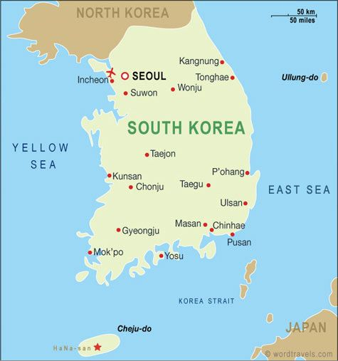 Daegu South Korea Map - Japan map bodies of water