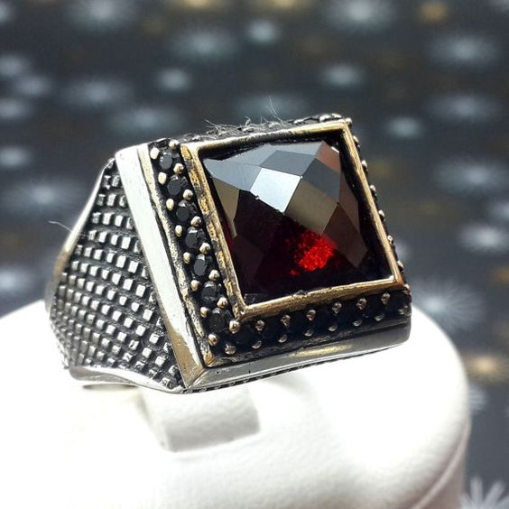 HANDSOME Turkish 925K Sterling Silver Men Ring by REPUBLICOFSILVER