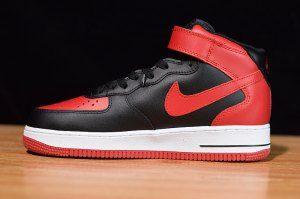Nike Air Force 1 Mid 07 Black Gym Red White 315123 029 Mens