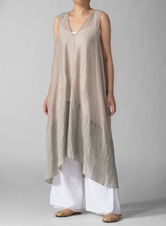 MISSY Clothing - Linen Knit Long Tunic: