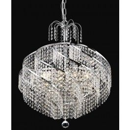 10 Light Spiral Crystal Chandelier chrome plated