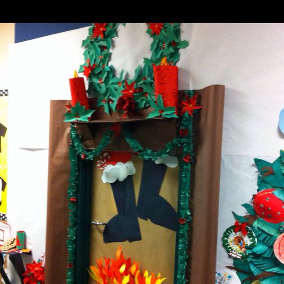 My teammate's classroom door for the holidays!