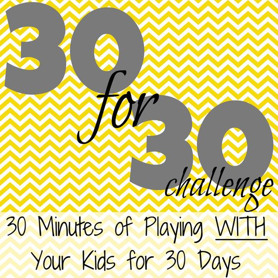Challenge: Play 30 Minutes for 30 Days
