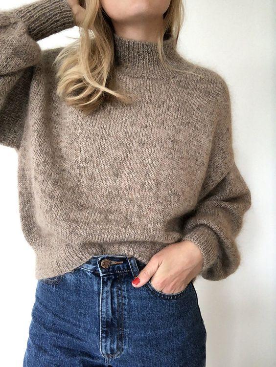 Ballonsweater, Petite Knit