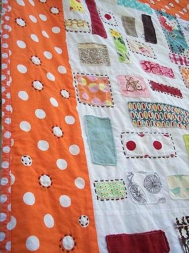 ticker tape (hand quilting details)