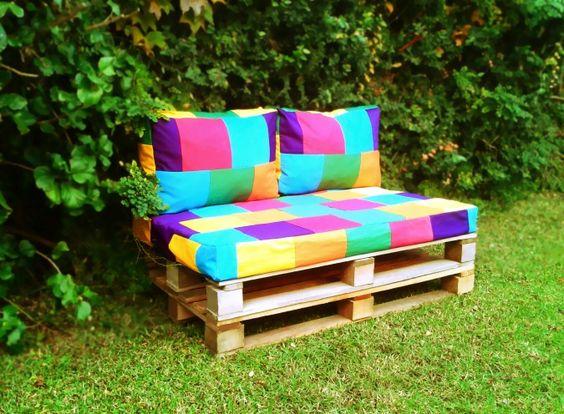 Almohadones base sillon de pallets ideas para mi jardin pinterest paletes Almohadones exterior