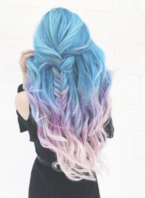 Hair Ombre Pastel Blue Lilacs 34 Ideas Hair Cool Hair Color