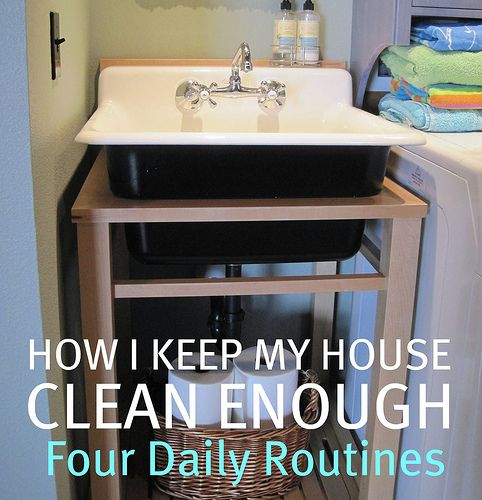 How to Keep Your House Clean Enough {Four Daily Routines} via @theinspiredroom