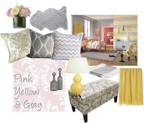 Pink Grey And Yellow Rooms Pink Yellow Gray Guest Bedroom