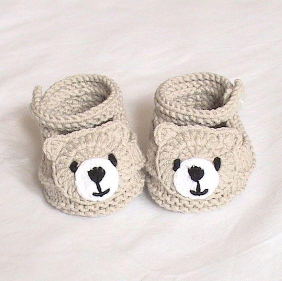 Медведь вязаная обувь,вязаная обувь для малышей,вязаные Детские пинетки,вязаная обувь для животных,вязаная обувь весело