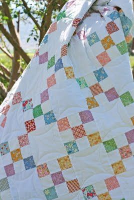 Simple quilting when I am short of time for a baby shower, but want to do more than Diagonal lines - v and co