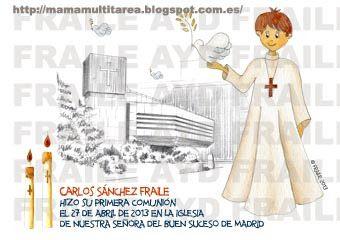 Comunión en la iglesia del Buen Suceso, Madrid