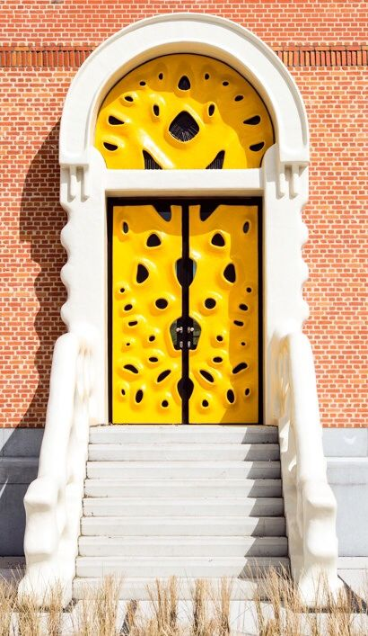 Wow! I'm seeing all kinds of faces on this funky door!!!!! How about you???