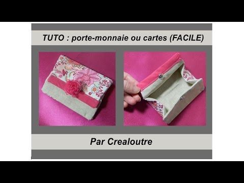 tuto porte monnaie porte cartes facile youtube couture facile avec patrons et tutos. Black Bedroom Furniture Sets. Home Design Ideas