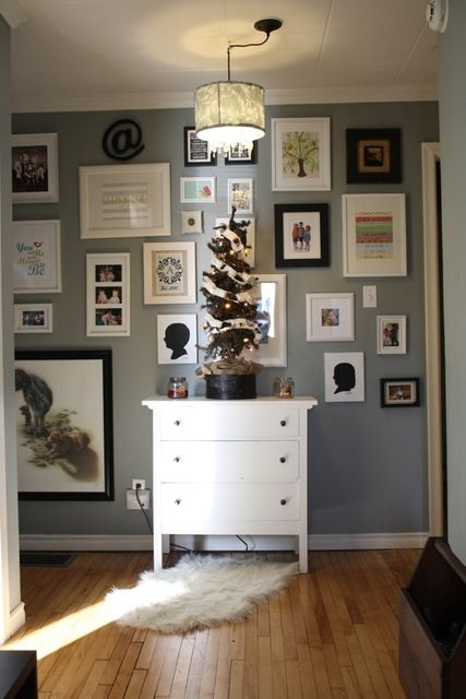 Wall with Lots of Frames.