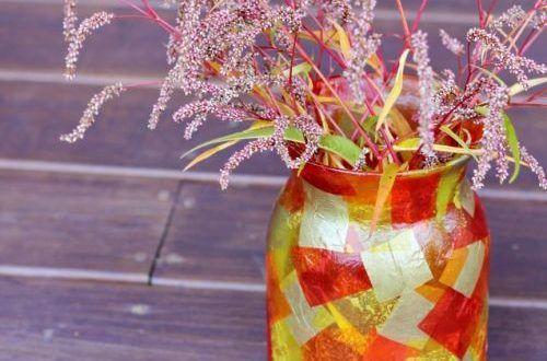Como Fazer Mosaico em Pote De Vidro