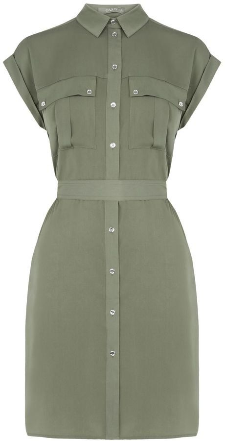 Pin for Later: You'll Be Wearing This Updated Staple All Summer Long Oasis Safari Shirt Dress Oasis Safari Shirt Dress (£45)