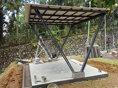 Canopy Baja Ringan Minimalis Harga Kanopi Dan Di Sawangan Depok