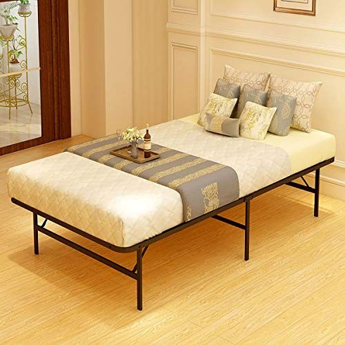 Jurmerry Foldable Bed Frame Metal Platform Base 18inch Box Spring Replacement Mattress F Adjustable Bed Frame Bed Frame With Mattress Metal Bed Frame