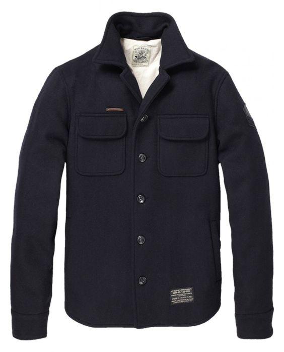 Sailor wool shirt jacket - Inbetweens - Scotch &amp Soda Online Shop