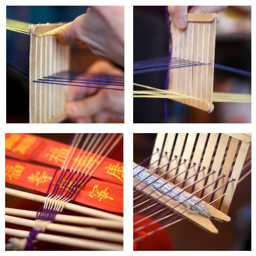 One woman's loom is another's popsicle sticks.  Japan always seems to have these kicking about, so why not?