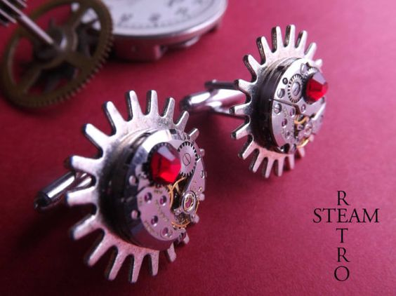 Steampunk Brunel Cufflinks - Mens Cufflinks - Steampunk Jewelry by Steamretro - Cufflinks - Steampunk Jewellery on Etsy, $38.30
