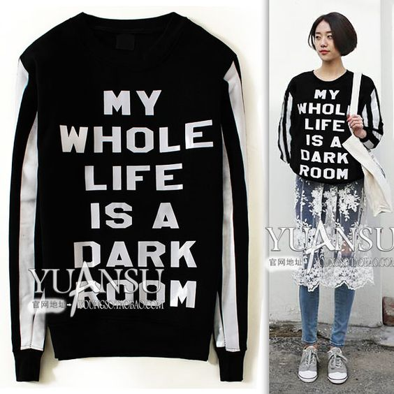 Find More Information about Yuansu Store new arrival 2014 The trend of fashion black print pullover women's long sleeve plus velvet sweatshirt,High Quality sweatshirt women,China print picture on mug Suppliers, Cheap sweatshirt crew from yuansu  on Aliexpress.com