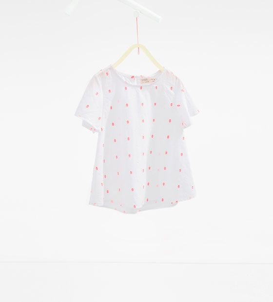 Neon plumetis blouse from Zara