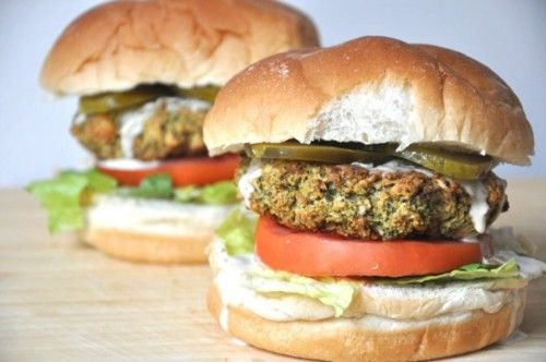 baked vegan broccoli burger