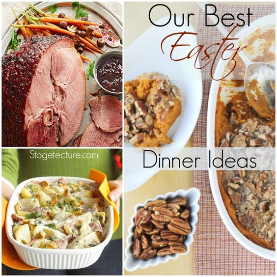 Our Best Easter Dinner Ideas on Stagetecture. From our favorite ham to gluten-free sides and more. What's on your Easter menu? #Easter #dinner