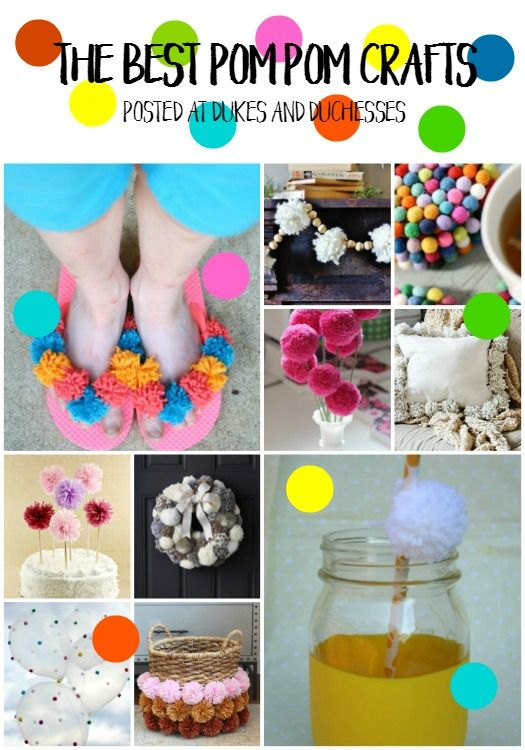 The Best Colorful Pom Pom Crafts With Images Pom Pom Crafts Crafts Crafts For Kids
