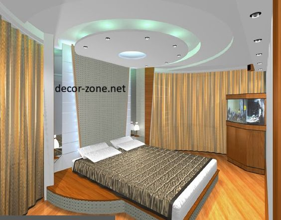 Small bedroom false ceiling designs with ceiling lights for Interior design bedroom ceiling