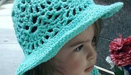 Lacy Shells Summer Sun Hat Crochet Pattern