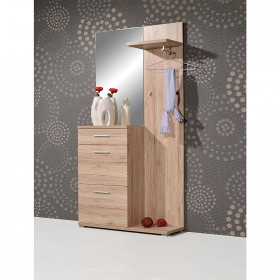 meuble d'entrée design chêne sacremento atylia | petit meuble d ... - Petit Meuble Entree Design
