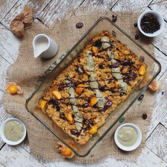 Gebackener Kürbis Porridge von grasgrün & himmelblau | Rezept auch in der mealy-App! Jetzt kostenlos für Android und iOS herunterladen: bit.ly/1Q8iaLl